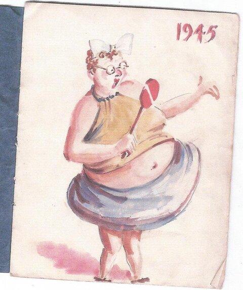 Birthday card for AKKI, Thailand 1945, by Gunner Jack Chalker (courtesy the Akhurst family)