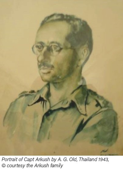 Portrait of Capt Arkush by A. G. Old, Thailand 1943,  © courtesy the Arkush family