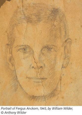 Portrait of Fergus Anckorn 1945 by William Wilder Credit: Anthony Wilder