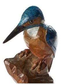 FEPOW wood carving of a kingfisher