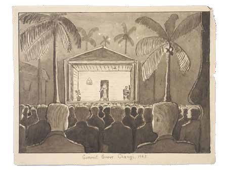 Drawing of a camp theatre