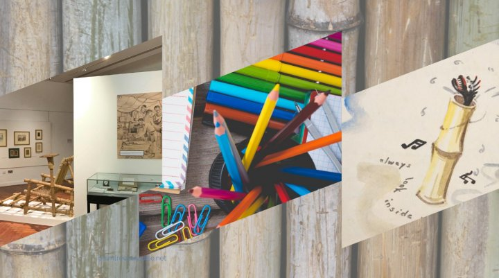 images of exhibition and picture of school supplies